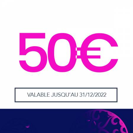 E-CARTE CADEAU - VALEUR 50€