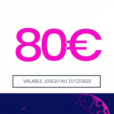 E-CARTE CADEAU - VALEUR 80€